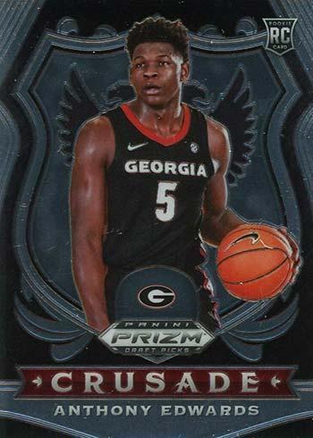 2020-21 Panini Prizm Draft Picks Basketball Anthony Edwards Crusade