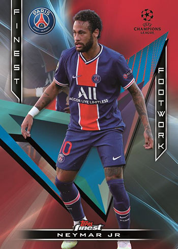 2020-21 Topps Finest UEFA Champions League Soccer Finest Footwork