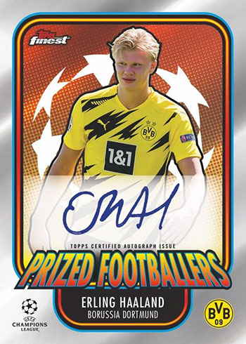 2020-21 Topps Finest UEFA Champions League Soccer Prized Footballers Autographs