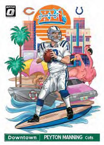 2020 Donruss Optic Football Downtown Peyton Manning