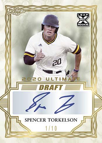 2018 Leaf Ultimate Draft Baseball box SIX Autograph cards