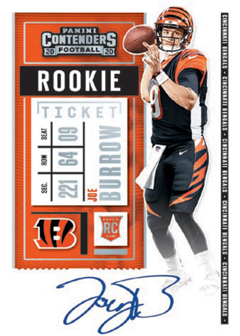 2020 Panini Contenders Football Rookie Ticket Autograph RPS