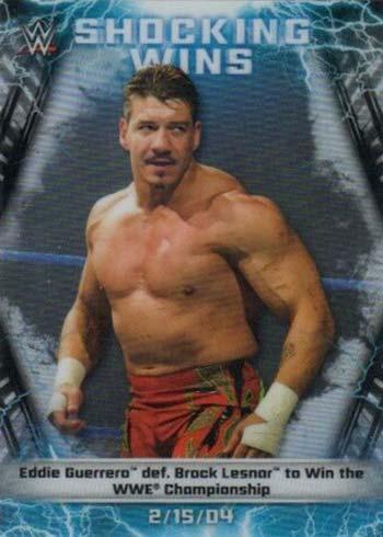 2020 Topps Chrome WWE Shocking Wins Eddie Guerrero