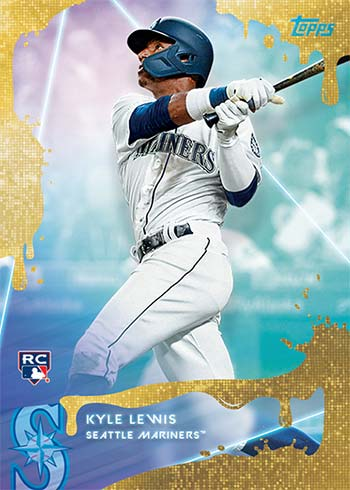 2020 Topps X Steve Aoki Baseball Gold Funfetti Kyle Lewis