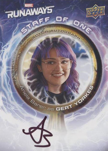 2020 Upper Deck Marvel's Runaways The Staff of One Autographs Ariela Barer