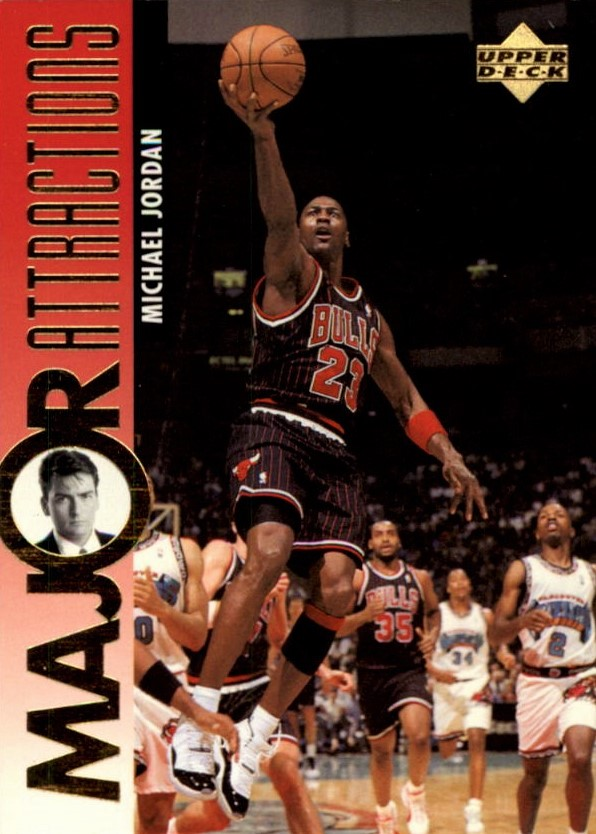 Cards and Kicks 1995-96 Upper Deck Michael Jordan Front