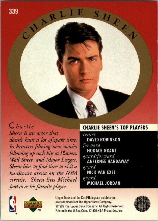 Cards and Kicks 1995-96 Upper Deck Michael Jordan Back