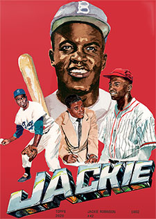 Topps Project 2020 321 Jackie Robinson by Jacob Rochester