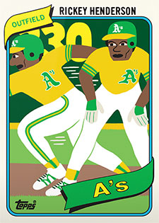 Topps Project 2020 326 Rickey Henderson by Keith Shore