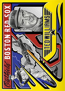 Topps Project 2020 327 Ted Williams by Mister Cartoon