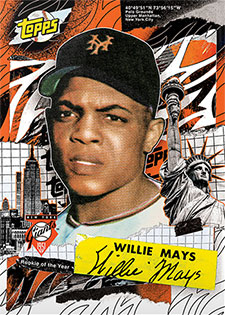 Topps Project 2020 332 Willie Mays by Tyson Beck