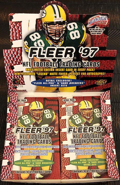 1997 Fleer Goudey Football Retail Box 18P8C