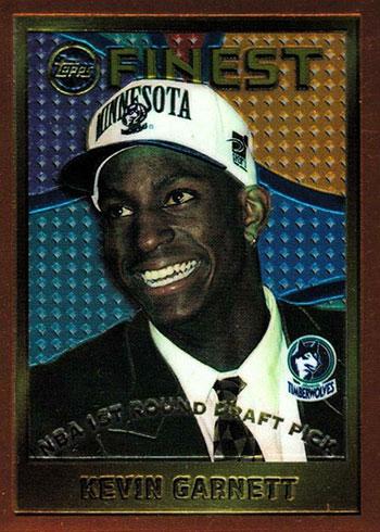 1995-96 Topps Finest Kevin Garnett Rookie Card