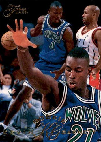 1995-96 Flair Kevin Garnett Rookie Card