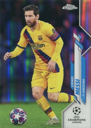 2019-20 Topps Chrome UEFA Champions League Lionel Messi Variation