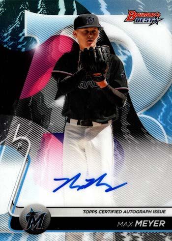 2020 Bowman's Best Baseball Best of 2020 Autographs Max Meyer