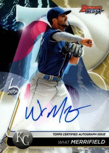 2020 Bowman's Best Baseball Best of 2020 Autographs Whit Merrifield