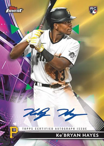 2021 Topps Finest Baseball Finest Autographs Gold Refractor