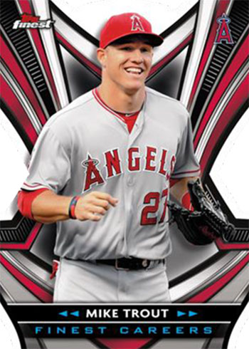2021 Topps Finest Baseball Finest Careers Die-Cuts Mike Trout