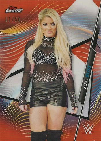 2020 Topps Finest WWE Orange Refractors Alexa Bliss