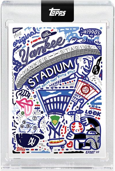2020 Topps X Efdot Iconic Stadium Series 1 Yankee Stadium