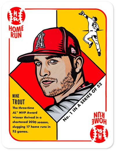1951 Topps by Blake Jamieson Mike Trout