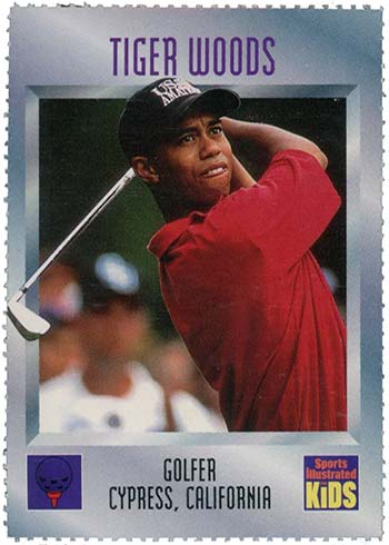 1996 Sports Illustrated for Kids Tiger Woods