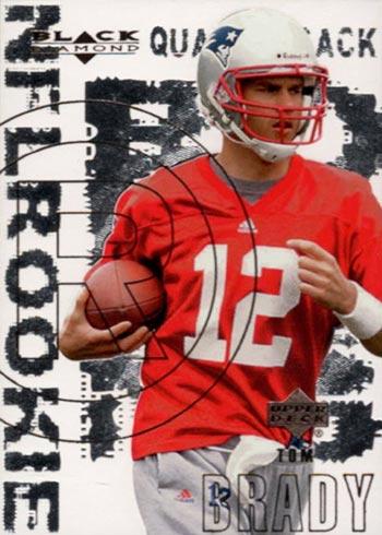 2000 Black Diamond Tom Brady Rookie Card
