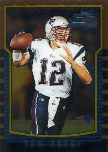 2000 Bowman Chrome Tom Brady Rookie Card