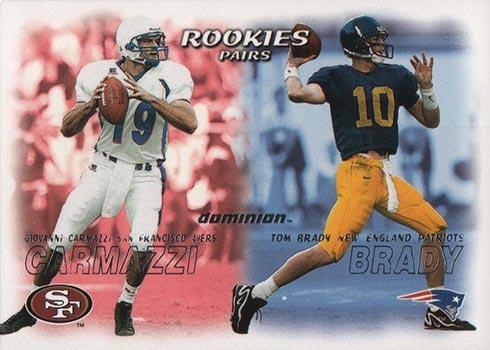 2000 SkyBox Dominion Tom Brady Rookie Card