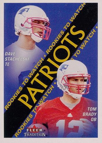 2000 Fleer Tradition Tom Brady Rookie Card
