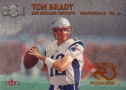 2000 Metal Tom Brady Rookie Card