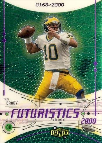 2000 UD Ionix Tom Brady Rookie Card