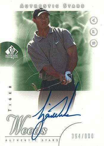 2001 SP Authentic Tiger Woods RC Autograph