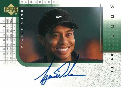 2001 Upper Deck Player's Ink Tiger Woods Autograph