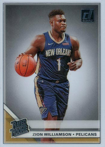 2019-20 Clearly Donruss Zion Williamson Rookie Card
