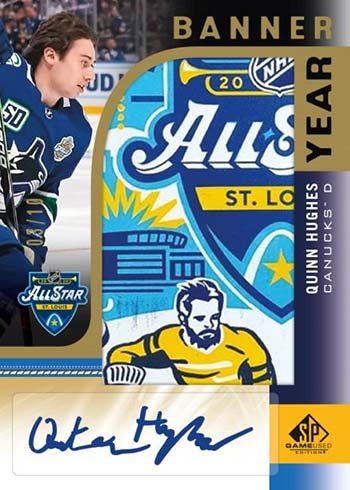 2020-21 SP Game Used Hockey Banner Year Autograph