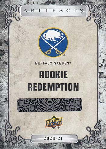2020-21 Upper Deck Artifacts Hockey Rookie Redemptions Buffalo Sabres