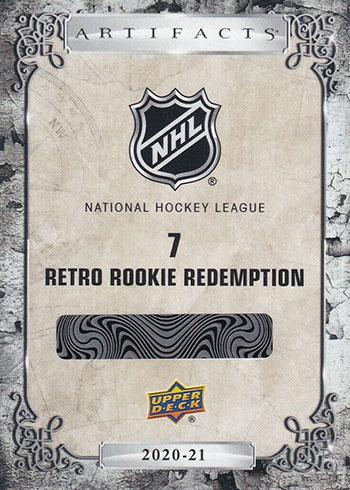 2020-21 Upper Deck Artifacts Hockey 2005-06 Retro Rookie Redemption