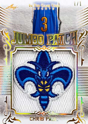 2020 Leaf In the Game Used Sports Jumbo Patch Chris Paul
