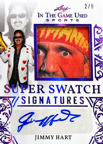 2020 Leaf In the Game Used Sports Super Swatch Signatures Jimmy Hart