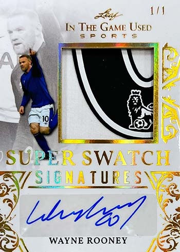 2020 Leaf In the Game Used Sports Super Swatch Signatures Wayne Rooney