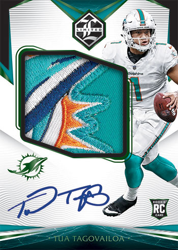 2020 Panini Limited Football Rookie Patch Autographs Variations