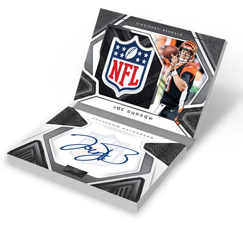 2020 Panini Playbook Football Rookie Patch Autograph Booklet