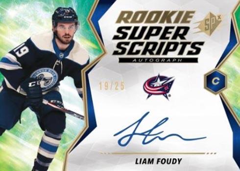 2020 SPx Hockey Rookie Superscripts
