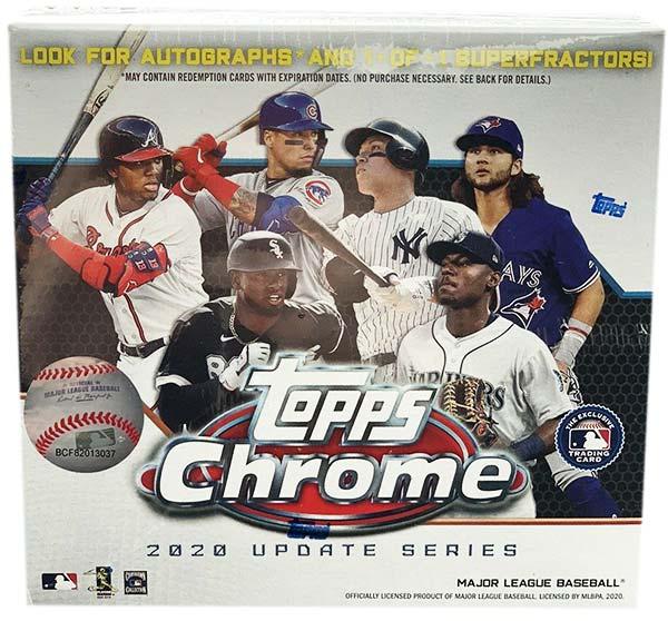2020 Topps Chrome Update Series Baseball Box