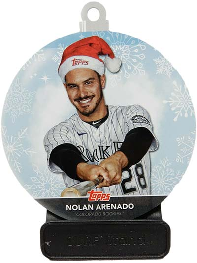 2020 Topps Holiday Baseball Ornaments Nolan Arenado