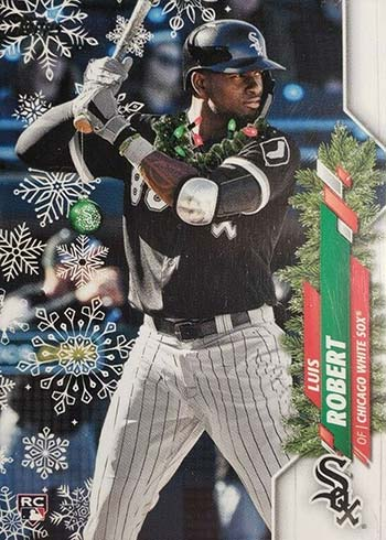 Luis Robert 2020 topps holiday light necklace variation