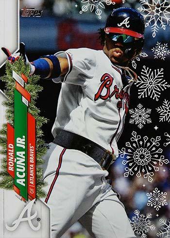 2020 Topps Holiday Baseball Variations Ronald Acuna Jr. Super Rare
