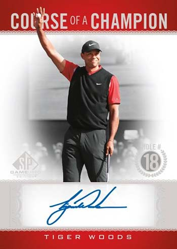 2021 SP Game Used Golf Course of a Champion Tiger Woods